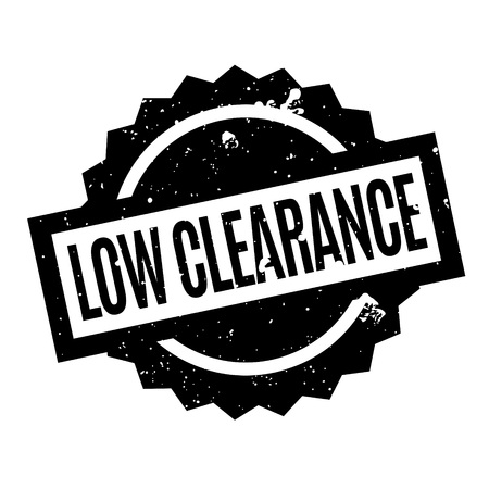 Low Clearance rubber stamp