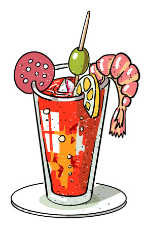 Cartoon image of weird cocktail