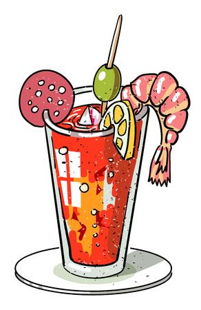 Cartoon image of weird cocktail