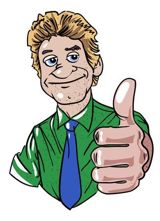 Cartoon Bild des Mannes geben Genehmigung Standard-Bild - 78266789