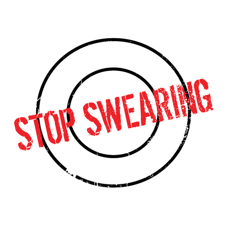 Stop Swearing rubber stamp