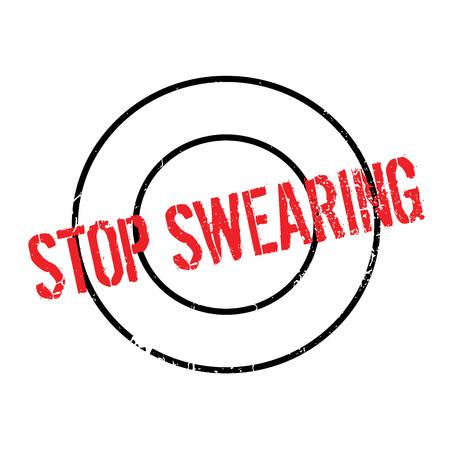 blasphemy: Stop Swearing rubber stamp