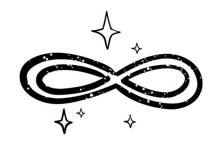 Cartoon image of Infinity Illustration