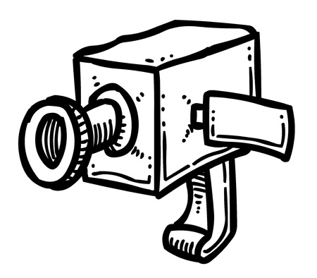 Cartoon image of Camera Icon. Camera symbol Illustration