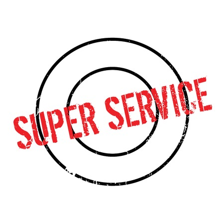 Super Service rubber stamp