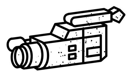 Cartoon image of Video camera. Camera symbol