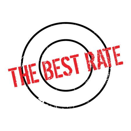 superlative: The Best Rate rubber stamp