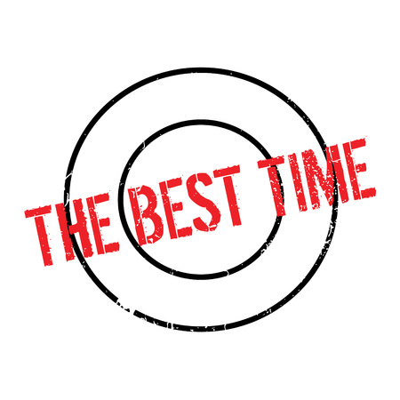 superlative: The Best Time rubber stamp