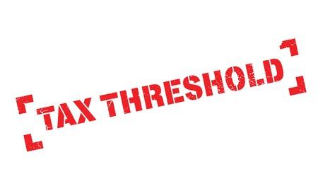 threshold: Tax Threshold rubber stamp Illustration