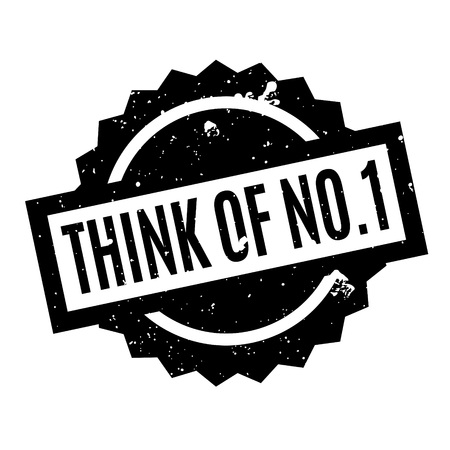 trait: Think Of No.1 rubber stamp Illustration
