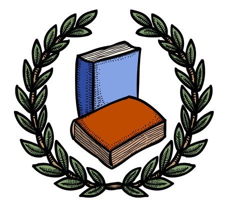책 아이콘의 만화 이미지입니다. 교육 심볼