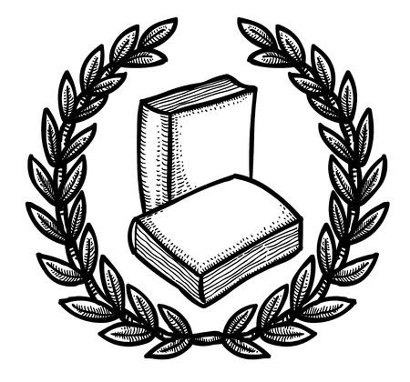 electronic publishing: Cartoon image of Book Icon. Education symbol Illustration