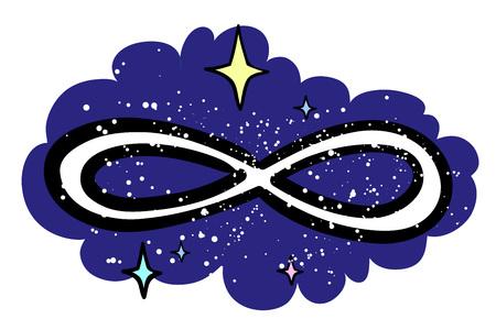 eternity: Cartoon image of Infinity Illustration