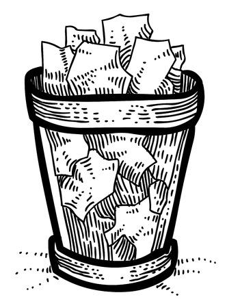 Cartoon image of Trash