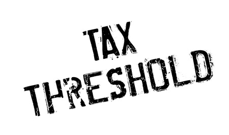 Tax Threshold rubber stamp Illustration