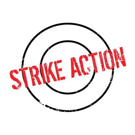 Strike Action rubber stamp
