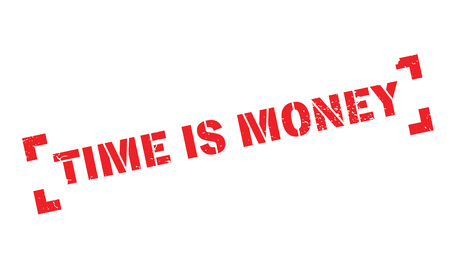 Time Is Money rubber stamp