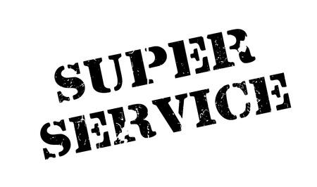 Super Service rubber stamp