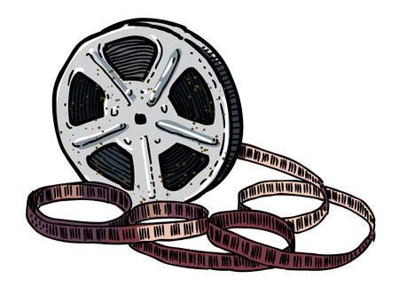 Cartoon image of Film reel Illustration