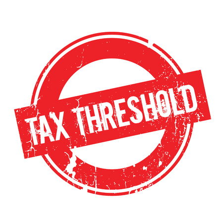 levy: Tax Threshold rubber stamp Illustration