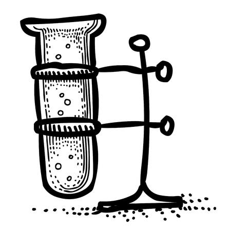 poison bottle: Cartoon image of Flask Icon. Laboratory symbol Illustration