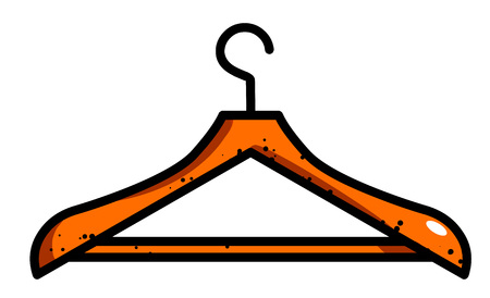 Cartoon image of Hanger Icon