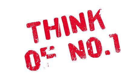 Think Of No.1 rubber stamp Illusztráció
