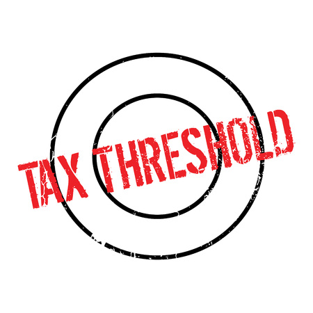 tax bracket: Tax Threshold rubber stamp Illustration