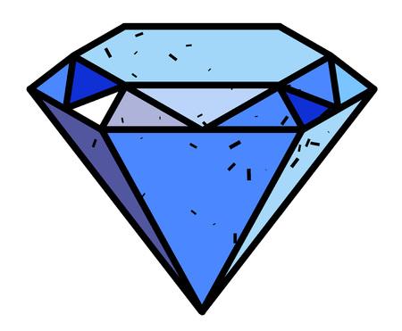 Cartoon image of Diamond Icon. Diamond symbol