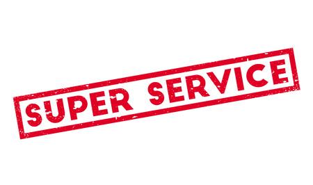 sensational: Super Service rubber stamp