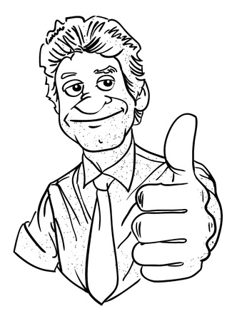 endorsement: Cartoon image of man giving approval