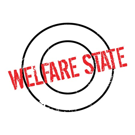 Welfare State rubber stamp Illustration