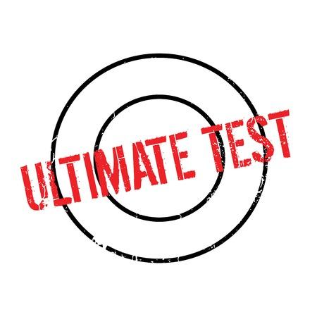 Ultimate Test rubber stamp Illustration