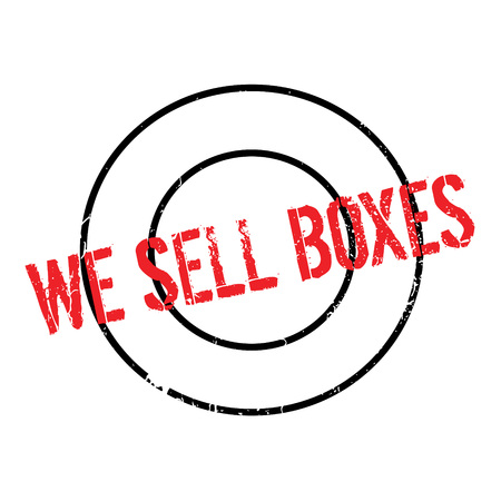 persuade: We Sell Boxes rubber stamp