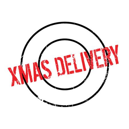 Xmas Delivery rubber stamp Иллюстрация