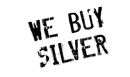 argent: We Buy Silver rubber stamp Illustration
