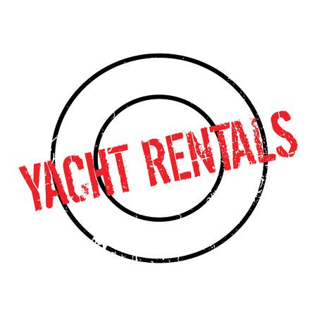 rentals: Yacht Rentals rubber stamp