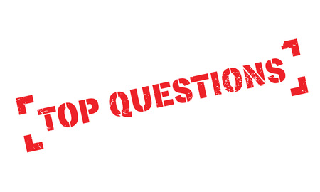 Top Questions rubber stamp