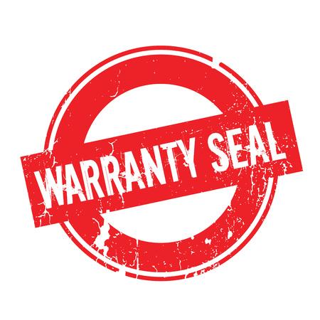 Warranty Seal rubber stamp Illustration