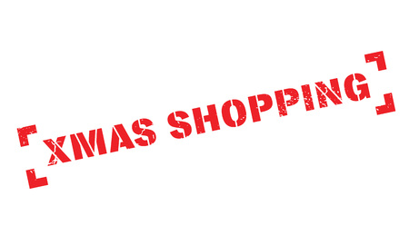 Xmas Shopping rubber stamp