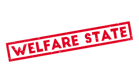 tax policy: Welfare State rubber stamp Illustration