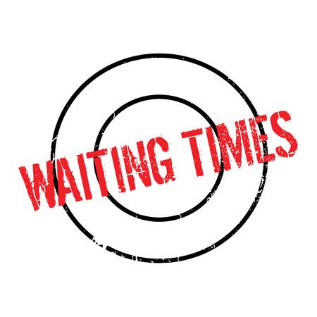 Waiting Times rubber stamp