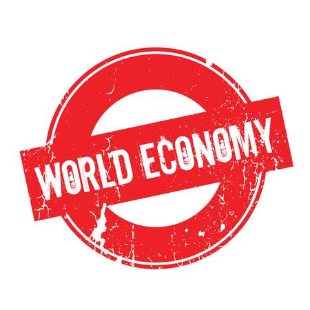 World Economy rubber stamp