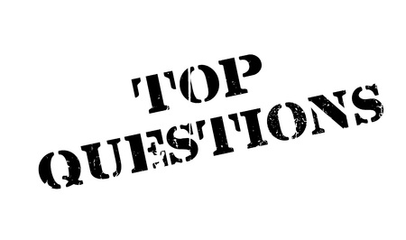 interrogatory: Top Questions rubber stamp. Grunge design with dust scratches. Effects can be easily removed for a clean, crisp look. Color is easily changed. Illustration