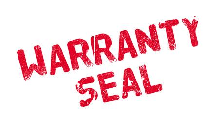 Warranty Seal rubber stamp Ilustração