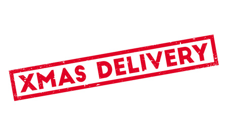 Xmas Delivery rubber stamp. Grunge design with dust scratches. Effects can be easily removed for a clean, crisp look. Color is easily changed.