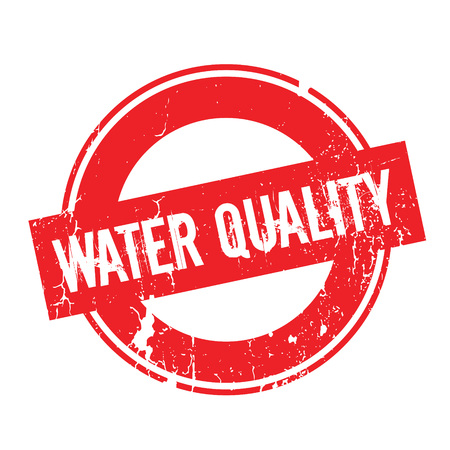 Water Quality rubber stamp. Grunge design with dust scratches. Effects can be easily removed for a clean, crisp look. Color is easily changed. Ilustração
