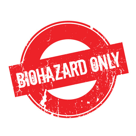 foot gear: Biohazard Only rubber stamp