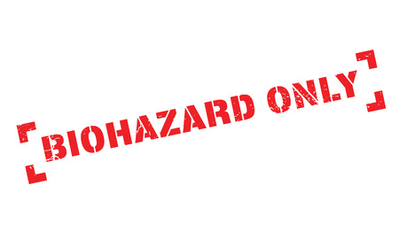oneself: Biohazard Only rubber stamp