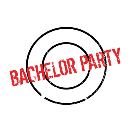 Bachelor Party rubber stamp